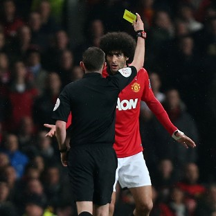 Marouane Fellaini, pictured, has refuted claims he spat at Pablo Zabaleta