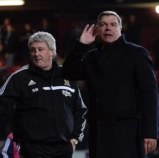 Burnley and Pendle Citizen: Sam Allardyce, right, was unhappy with the full-time boos