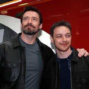 Hugh Jackman and James McAvoy have launched a special X-Men train