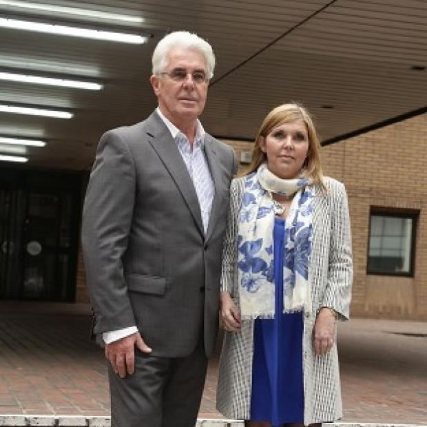 Burnley and Pendle Citizen: Max Clifford and his daughter Louise Clifford outside Southwark Crown Court