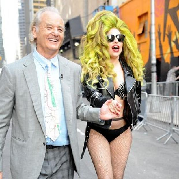 Burnley and Pendle Citizen: Bill Murray enjoyed meeting Lady Gaga (Rex)