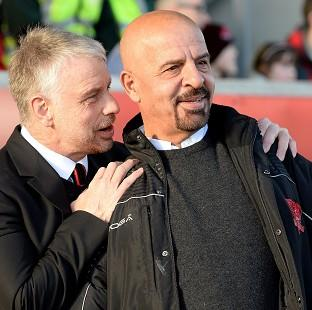 Burnley and Pendle Citizen: Marwan Koukash, right, said he had moved Brian Noble upstairs