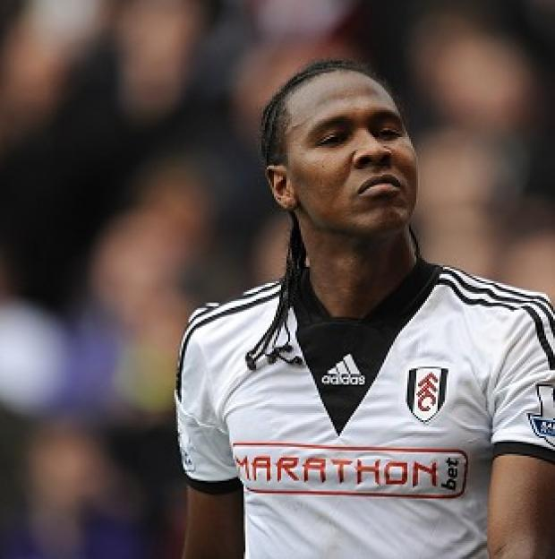 Burnley and Pendle Citizen: Fulham's Hugo Rodallega celebrates scoring his side's winning goal