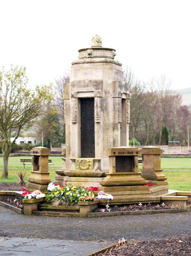 Burnley and Pendle Citizen: The war memorial in Sough.