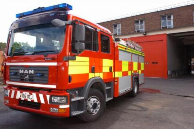 Burnley and Pendle Citizen: Firefighters tackling blaze at Helmshore factory