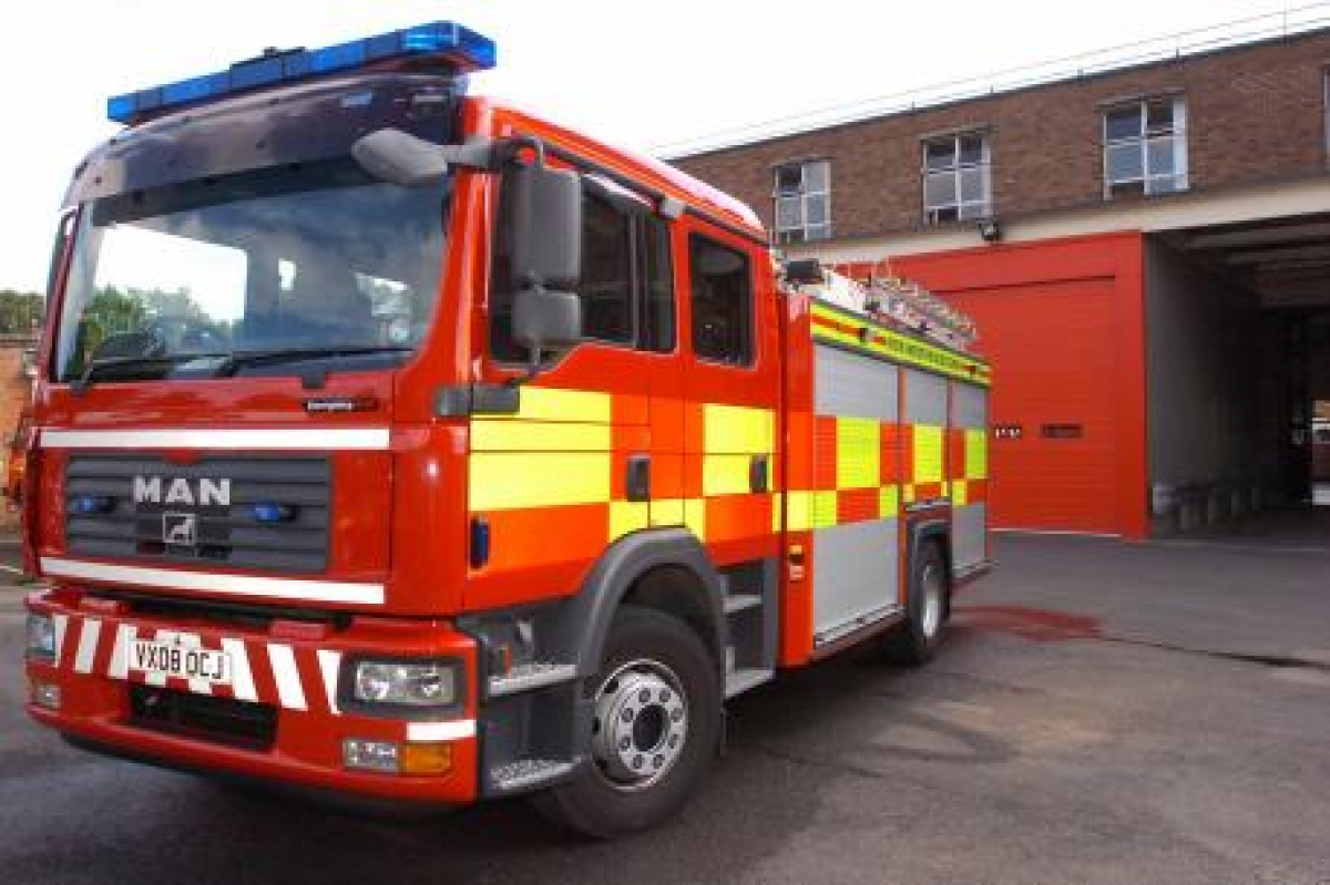 Couple taken to hospital after escaping Blackburn house fire