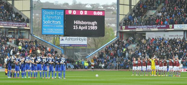 Clarets and Middlesbrough players remember the Hillsborough victims