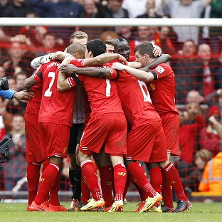 Liverpool celebrate after the final whistle