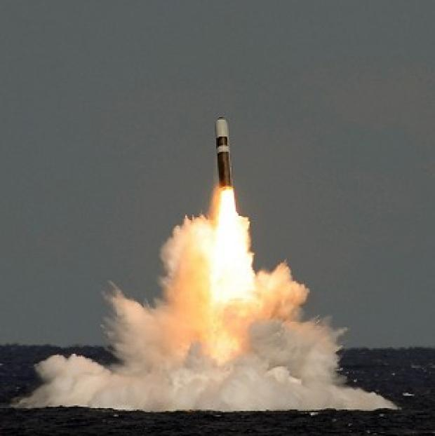 Burnley and Pendle Citizen: An unarmed Trident ballistic missile fired from HMS Vigilant during a test launch