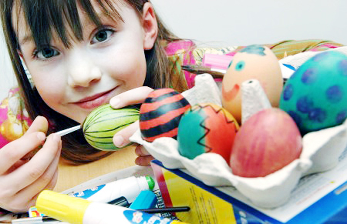 Painting eggs is just one of the fun things on offer over Easter
