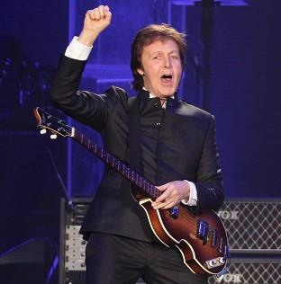 Sir Paul McCartney was interviewed by footballer Luis Suarez in Montevideo