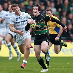 Burnley and Pendle Citizen: Jamie Elliott, pictured right, scored two tries as Northampton beat London Irish