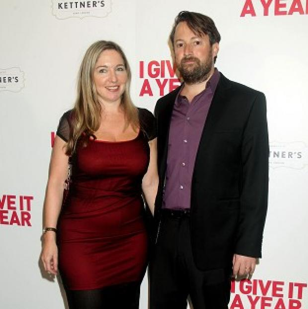 Burnley and Pendle Citizen: File picture of Victoria Coren Mitchell with her husband David Mitchell.