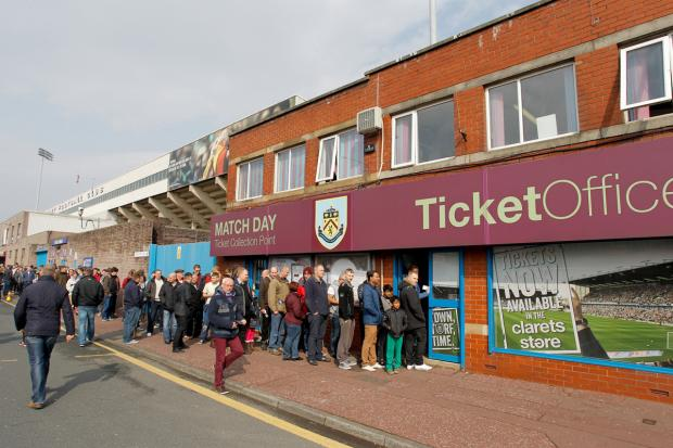 Supporters have been queuing outside Turf Moor since 8.30am this morning