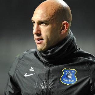 Burnley and Pendle Citizen: Tim Howard, pictured, has described David Moyes as a 'brilliant manager'