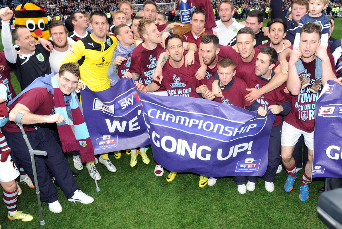Burnley and Pendle pupils join Clarets' promotion party