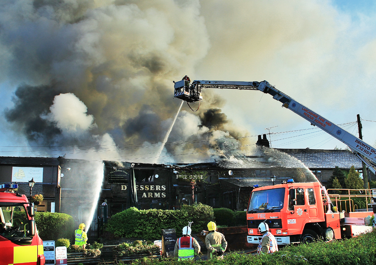 VIDEO: Inferno wrecks Wheelton country pub