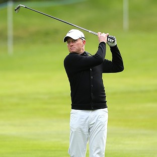 Simon Dyson, pictured, shares the lead of the Volvo China Open with Alvaro Quiros