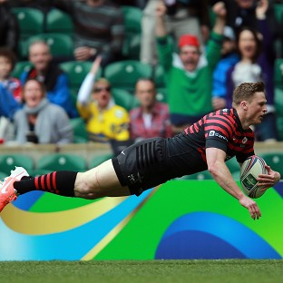 Chris Ashton scores Saracens' first try against Clermont
