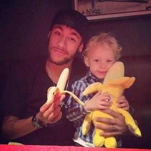 Neymar, pictured, led the widespread backing of Dani Alves