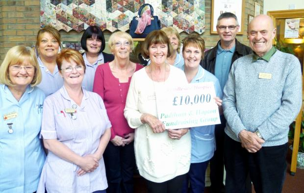 Pendleside Hospice receives £10k cheque from fundraisers