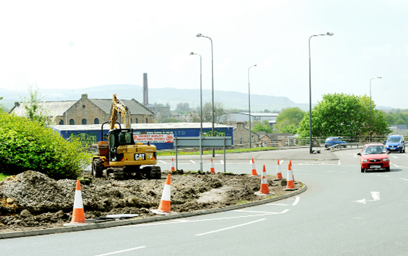 Work starts on the roundabout at Westgate in Burnley