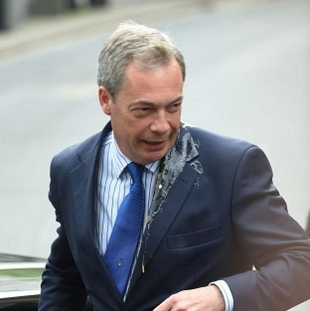 Burnley and Pendle Citizen: Ukip leader Nigel Farage was hit by an egg during a campaign visit to Nottingham