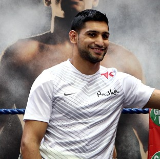 Amir Khan, pictured, wants to make a statement against Luis Collazo