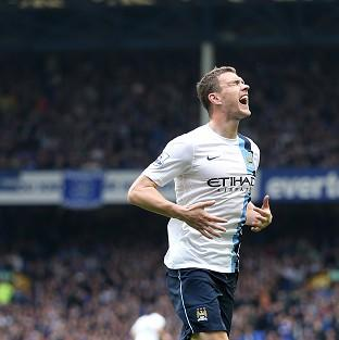 Edin Dzeko's brace helped Manchester City claim victory at Goodison Park