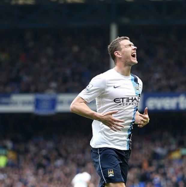 Burnley and Pendle Citizen: Edin Dzeko's brace helped Manchester City claim victory at Goodison Park
