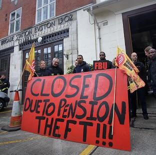 Burnley and Pendle Citizen: Euston fire station in central London where firefighters staged a strike in a row over pensions