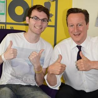 Burnley and Pendle Citizen: Stephen Sutton was discharged from hospital hours after meeting David Cameron