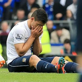 Burnley and Pendle Citizen: Sergio Aguero suffered the injury against Everton