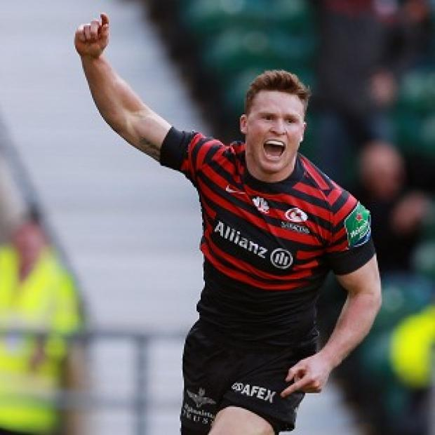 Burnley and Pendle Citizen: Saracens boss Mark McCall has backed wing Chris Ashton, pictured, for an England recall