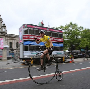 Joff Summerfield tests out the route of the Giro d'Italia in Belfast
