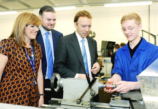 Burnley and Pendle Citizen: Engineers in a lesson at Nelson and Colne College