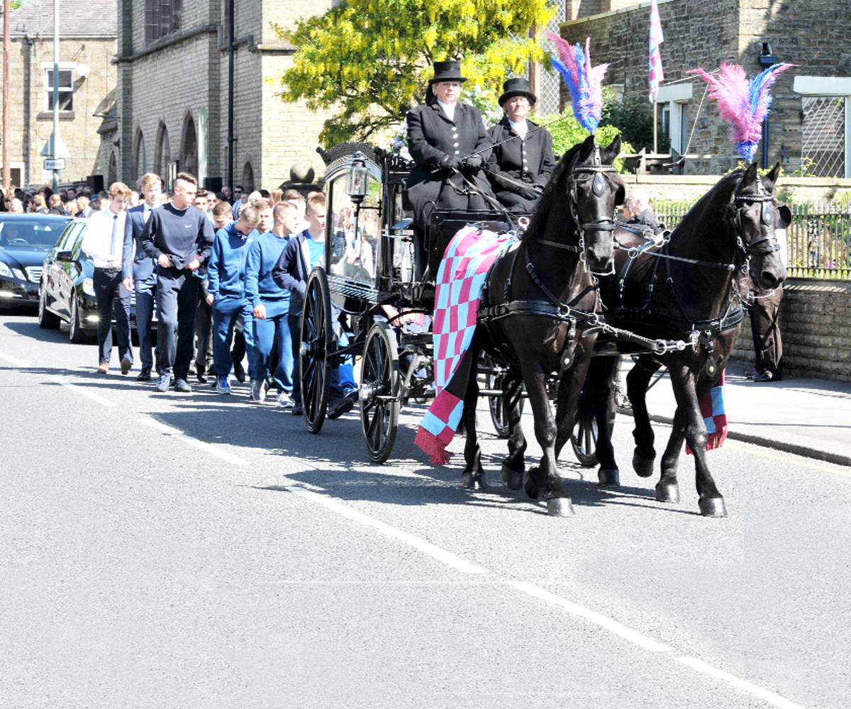 FAREWELL DECLAN: Hundreds turn out for Burnley teenager's funeral
