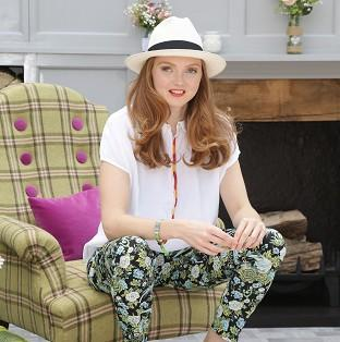 Burnley and Pendle Citizen: Lily Cole at House of Fraser's garden during the press day at the RHS Chelsea Flower Show