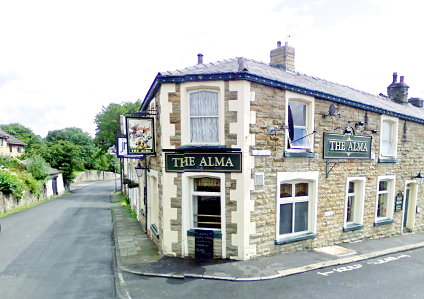 The Alma Inn, Padiham, opened in 1897