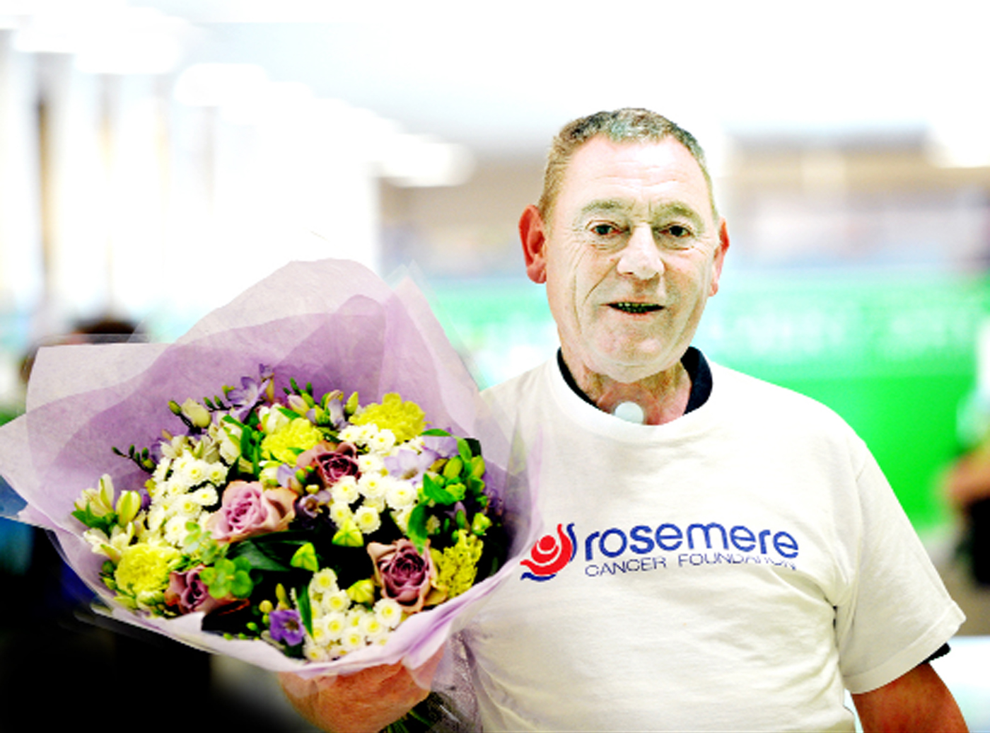 Rosemere volunteer Geoff Whittaker at Asda, Colne