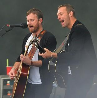 Burnley and Pendle Citizen: The Kings of Leon with Chris Martin performing during Radio 1's Big Weekend at Glasgow Green