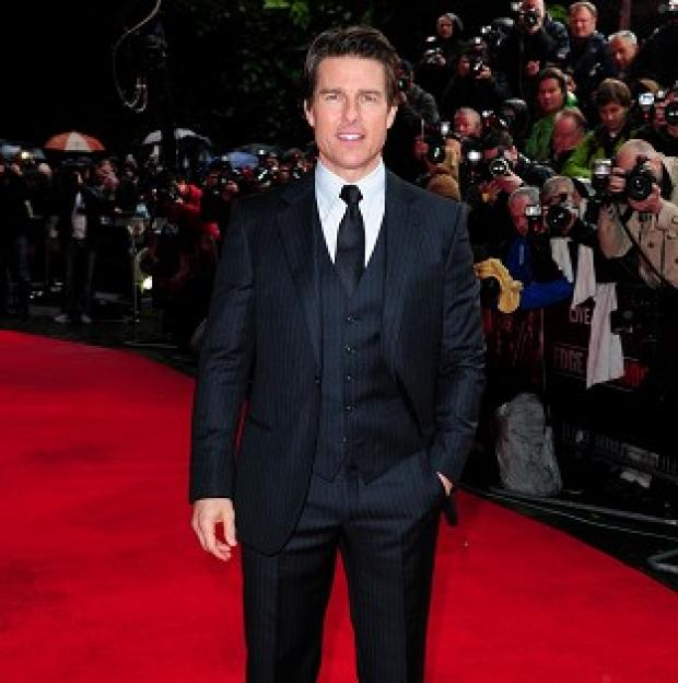 Burnley and Pendle Citizen: Tom Cruise attended the world premiere of Edge Of Tomorrow in London