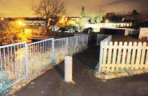 The footbridge where a 14-year-old boy attacked an eight-year-old girl in January