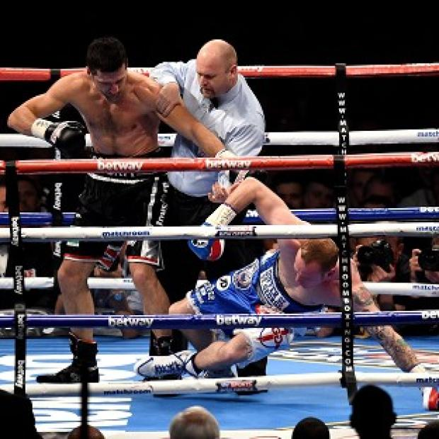 Burnley and Pendle Citizen: Carl Froch delivers the punch that saw off George Groves