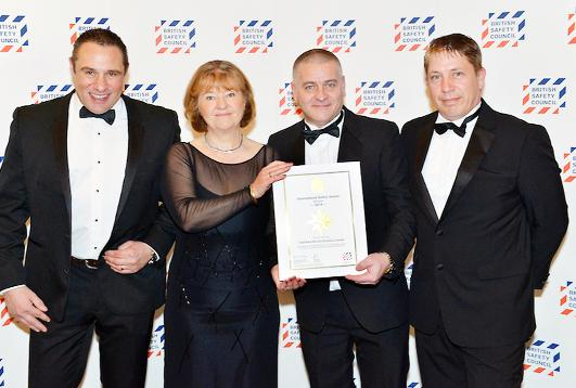 Burnley and Pendle Citizen: From left, Paul Nowell of Total Food Service, Lynda Armstrong OBE of the BSC, Peter Kozlowski and David Mellor of Total Food Service
