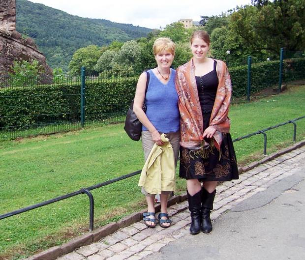 Kathryn Lund and her mum Anne who died of cancer at the age of 55. Kathryn turned to poetry to help her through the trauma