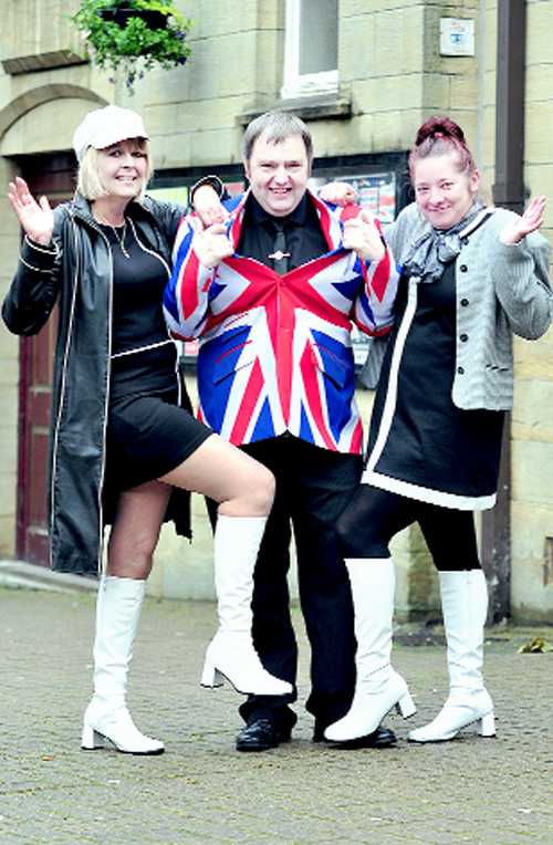 Tracey Murray from Burnley, left, with Paul Lally and Natasha Mellor, both from Accrington