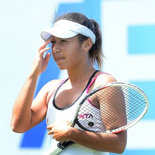 Heather Watson was beaten by Aleksandra Wozniak in Birmingham