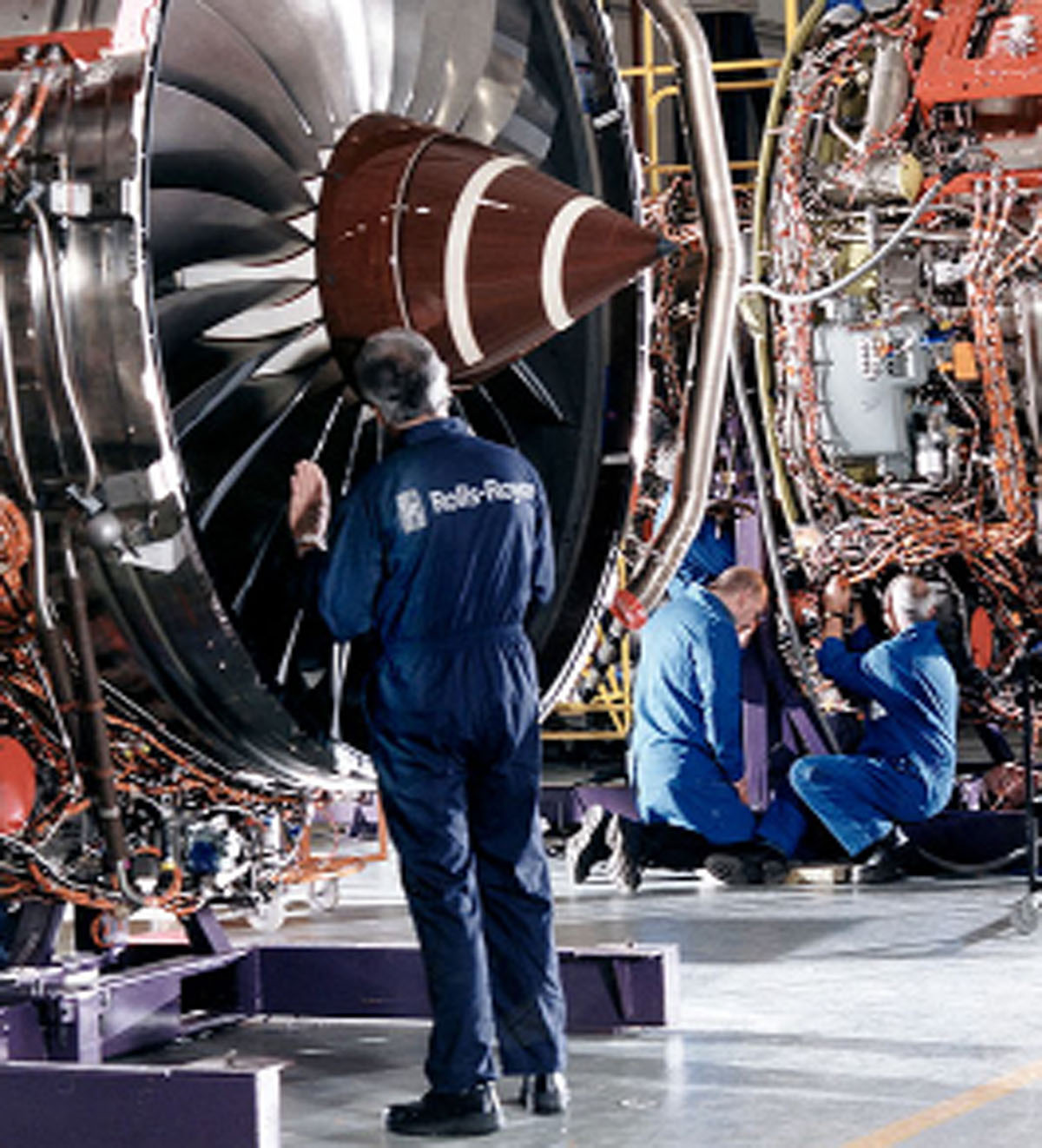 Aircraft work at Rolls-Royce