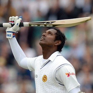 Angelo Mathews reached a century on the morning of day four of the Lord's Test